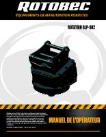 Rotobec French Rotator Manual RLP 902