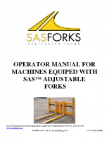Adjustable Forks Operator Manual