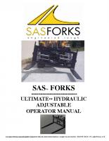 Adjustable Ultimate Forks S/N F4820
